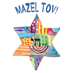 Wholesale Mazel Tov T Shirts Online at Cheap Price, Discount Mazel Tov T Shirts - 21076HL4-1