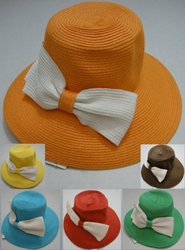 Wholesale Fashion Hats - HT816. Ladies Woven Hat with Large Bow