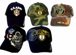 Wholesale Military Patriotic Hats and Caps Suppliers - ECAP Army mixB. Military Embroidered Caps