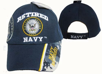 Wholesale Military Hats and Caps Suppliers - CAP592 Retired Navy Cap