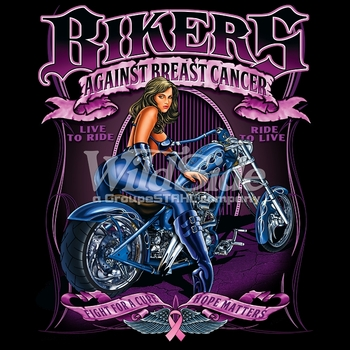 Wholesale Breast Cancer Biker T-shirts Wholesale Cheap For Sale - MSC Distributors