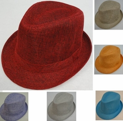 Wholesale T Shirts, Wholesale Hats, Bulk Wholesale Products Resale Flea Market Online Suppliers - HT1565. Ladies Fedora Hat [Solid Color]