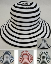 Wholesale T Shirts, Wholesale Hats, Bulk Wholesale Products Resale Flea Market Online Suppliers - HT890. Ladies Fashion Hat [Two-Tone Swirl]