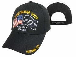 Wholesale US Military Hats, Wholesale Military Caps - CAP604D Pow-Mia Flag Vietnam Vet Cap