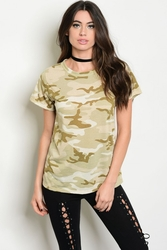 Wholesale Fashion Clothing Boutique Supplier Women's Junior Teenage - C71-A-6-T1784959 CAMOUFLAGE TOP 2-2-2