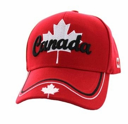 Wholesale Products - Canada Men's Hats Embroidered Logo Baseball Wholesale Bulk Suppliers - MSC Distributors - (Solid Red) - VM552-06