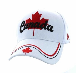 Wholesale Products - Canada Men's Hats Embroidered Logo Baseball Wholesale Bulk Suppliers - MSC Distributors - (Solid White) - VM552-03
