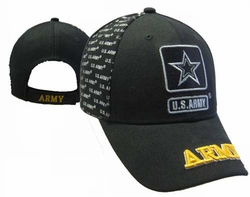 Wholesale Headwear, Army Hats, Wholesale Hats, Men's Hats, Military Hats - CAP595B ARMY Star Cap