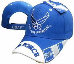Wholesale Products - Air Force Apparel Military Wholesale T Shirts Embroidered Logo Baseball Hats Caps Bulk Suppliers - CAP603U AF Wings Air Force Bill Cap