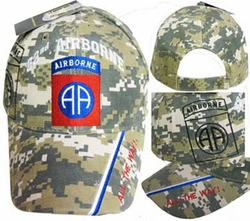 Military Hats Caps Wholesale Bulk Supplier - CAP627C 82 Airborne Division Cap ACU Camo
