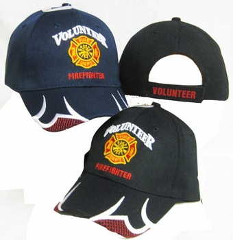 Wholesale Embroidered Baseball Logo Caps Hats Suppliers Bulk - CAP647A Volunteer Firefighter Cap
