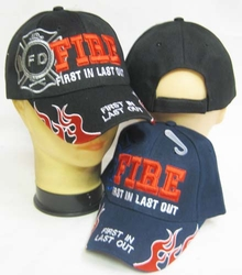 Hats Caps Firefighter Wholesale Clothing and Apparel Drop Shipping - CAP649 FIRE FILO Cap