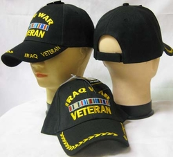 Wholesale US Military Hats, Wholesale Military Caps - CAP781 IRAQ Vet Cap BK