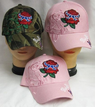 Wholesale T Shirts, Wholesale Hats, Rose Dixie Girl Hats Wholesale - CAP886P