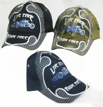 Wholesale T Shirts, Wholesale Hats, Men's Hats and Caps - CAP890A Live Free Ride Free Cap