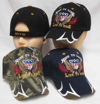 Men's Hats and Caps - CAP891A Live to Ride Cap