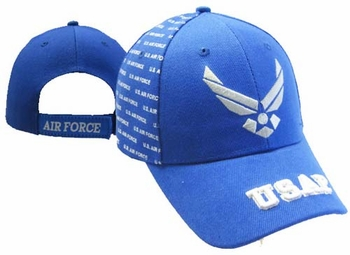 Wholesale Military Hats US Air Force Hats - CAP597B AF Wings with USAF on Bill Cap