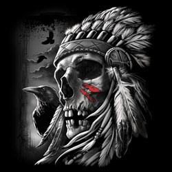 Wholesale Bulk Suppliers Native Skull T Shirts Designs - MSC Distributors