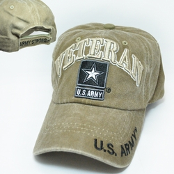 Army Apparel Military Wholesale T Shirts Embroidered Logo Baseball Hats Caps Bulk Suppliers - CM-1041 Army Star Veteran