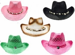 Wholesale Convenience Store Supplies - COLORED COWBOY HATS