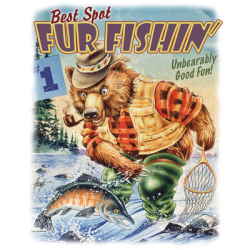 Wholesale Clothing, Country Bear Fishing Funny T Shirts Hats Wholesale Bulk Supplier - 21619HL2