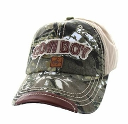 Men's Women's Adult Wholesale Men's Hats and Caps in Bulk - Cowboy Buckle Cap (Hunting Camo & Khaki) - VM537