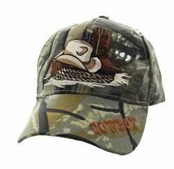 Wholesale Men's Women's Adult Hats and Caps in Bulk - Cowboy Velcro Cap (Solid Hunting Camo) - VM382