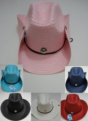 Wholesale Fashion Hats - HT303. Straw Cowboy Hat with Jewel