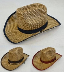 Clothing Apparel Headwear Wholesale Bulk Fashion - HT832. Straw Cowboy Hat