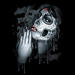 T Shirts Wholesalers, Funny T Shirts - DAY OF DEAD PRAY 20296D2-2T