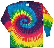 Wholesale Clothing, Tie Dye T Shirts, Long Sleeve T Shirts, Wholesale T Shirts, REACTIVE RAINBOW