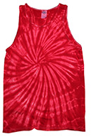 Tie-Dye T-Shirts, Hoodies & Other Clothing - Cheap Bulk Prices - Wholesale Tie Dye Apparel Tank Tops - SPIDER RED