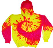 Bulk, Apparel - Wholesale T Shirts Tie Dye Pullover Hoodie, Apparel, Wholesale, Bulk, Supplier - MSC Distributors - FLUORESCENT SWIRL
