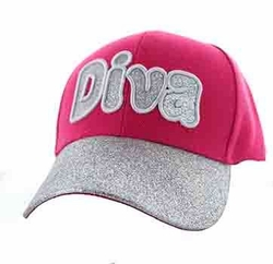 Embroidery Designs - For Women Wholesale Bulk Suppliers -Diva Velcro Cap (Light Pink) - VM628-01
