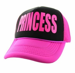 Sports Outdoors Embroidery Designs - For Women Wholesale Bulk Suppliers -Princess Trucker Mesh Cap (Black & Hot Pink) - SM740-03