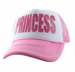 Sports Outdoors Embroidery Designs - For Women Wholesale Bulk Suppliers -Princess Trucker Mesh Cap (White & Light Pink) - SM740-02
