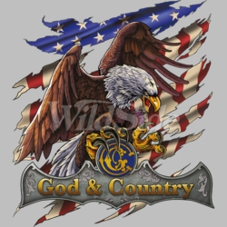 Patriotic T Shirts Hats Wholesale Bulk Supplier - God Country Patriotic - 19768