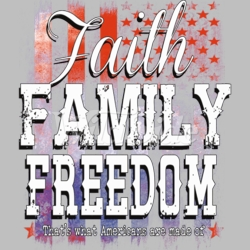 T Shirts Hats Wholesale Bulk Supplier Clothing Apparel - Faith Family Freedom - 20173