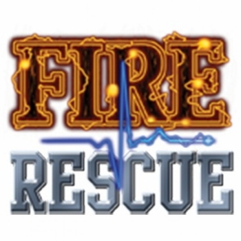Wholesale Clothing Apparel - T Shirts, Bulk T Shirts - Fire Rescue With Blue Pulse Line a8557h