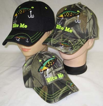 Fishing  Hats - CAP925A Bite Me Bait Cap