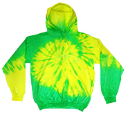 Wholesale Products - Colortone Youth & Adult Tie Dye Pullover Hoodie - Flo Yellow Lime - MSC Distributors