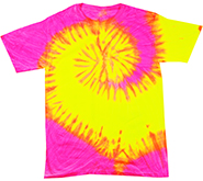 Wholesale Apparel Blank Bulk Cheap Discount Gildan Wholesale Bulk Tie Dye T Shirts Clothing Short Sleeve - FLUORESCENT SWIRL