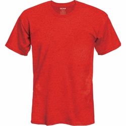 Wholesale Clothing, Gildan Men's Classic Ultra Cotton Short Sleeve T-Shirt Clothing - Heather Red