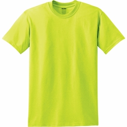 T Shirts Wholesale Bulk Supplier - Gildan Blank T Shirt - Safety Green