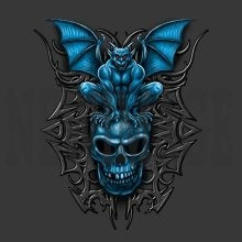 Skull Gothic Wholesale Products - Graphic T-Shirts, Women's T-shirts, Polo Shirts, Hoodies, Wholesale Prices - 22011