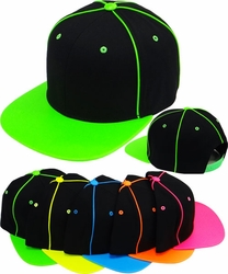 Wholesale Suppliers Wholesalers, Products - Snapback Hats & Hats | Wholesale Caps & Hats - FS-141 Neon PU Leather Snapback