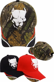 Wholesale T Shirts, Wholesale Hats, Pit-bull Men's Caps And Hats Cheap Wholesale Online Drop Shipping - CD-131 Pit-bull Head