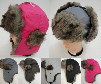 Trapper Hat, Winter Cheap Online - WN218. Aviator Hat with Fur Trim--Solid Color