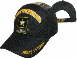 Wholesale Military Logo Embroidered Baseball Hats Caps Bulk Cheap Licensed - CAP591H Army Logo Veteran Cap