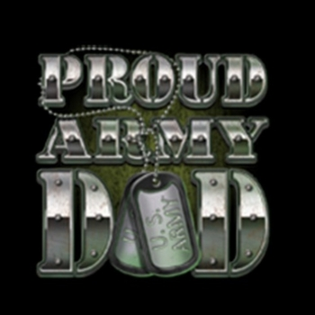 Heat Transfers - Bulk Wholesale T-Shirts - Proud Army Dad Tags a10151c